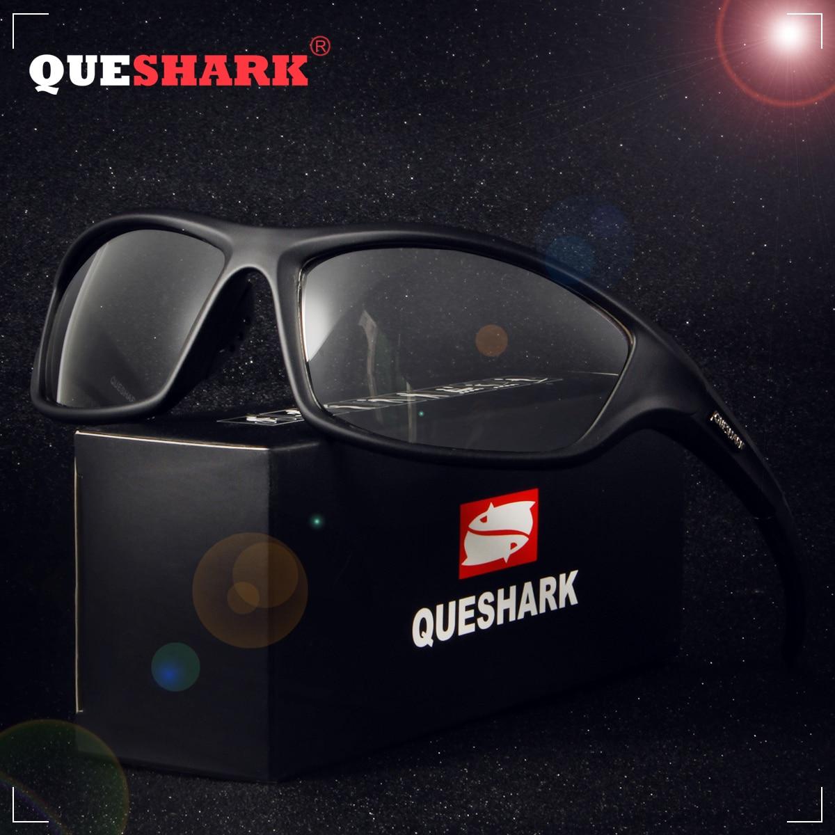 e8a82839874f4 QUESHARK Esporte Photochromic Óculos De Sol Dos Homens Camaleão  Descoloração óculos de Sol para homens Anti-reflexo Óculos de Condução  Óculos de Pesca