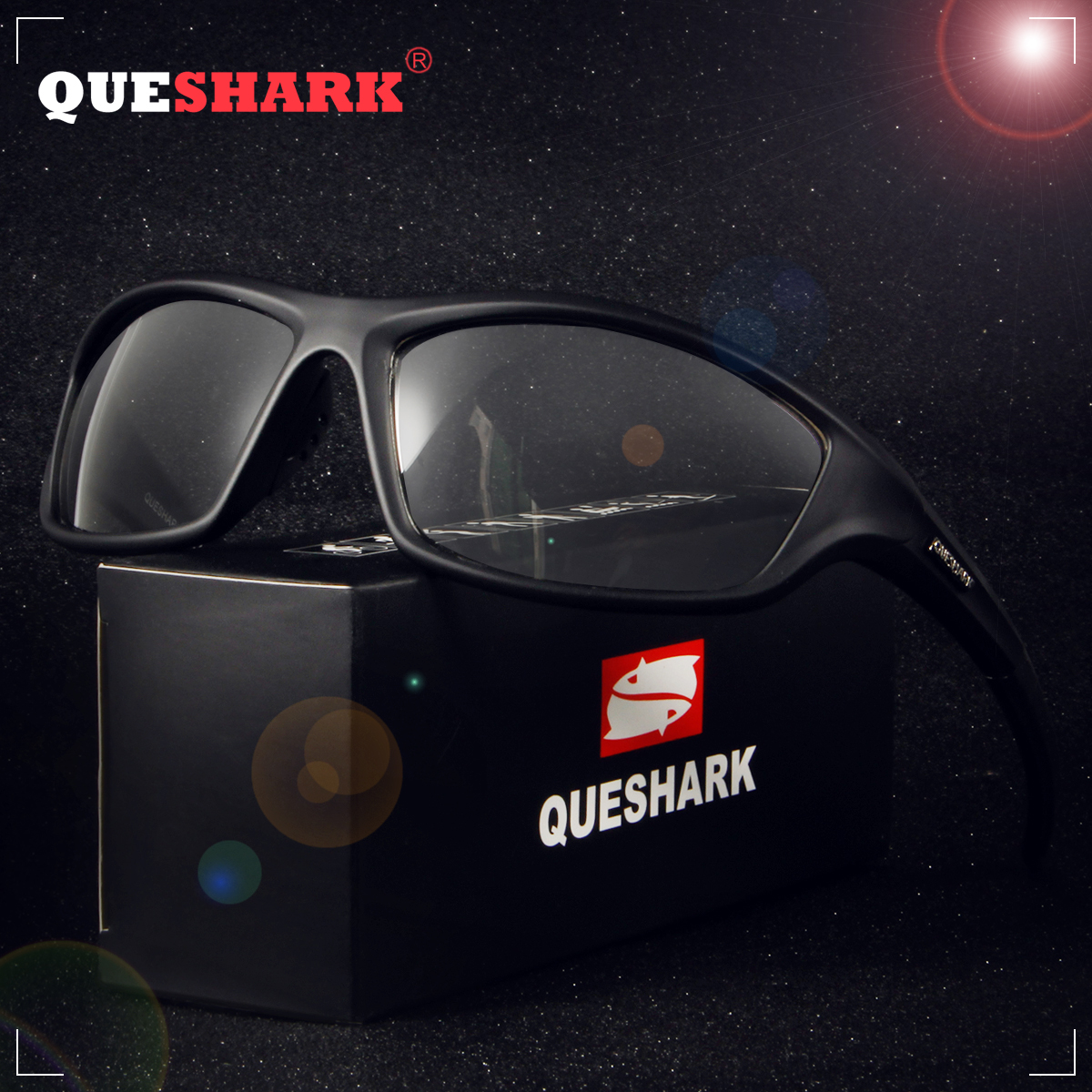 f4ccee9803 Gafas de sol fotocromáticas deportivas QUESHARK para hombre gafas de sol de  decoloración camaleón para hombre gafas antideslumbrantes para conducir  pesca