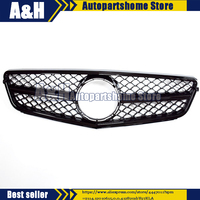Fit for Mercedes Benz W204 C63 C CLASS AMG Style grille Grill 2008 2014 Gloss Black