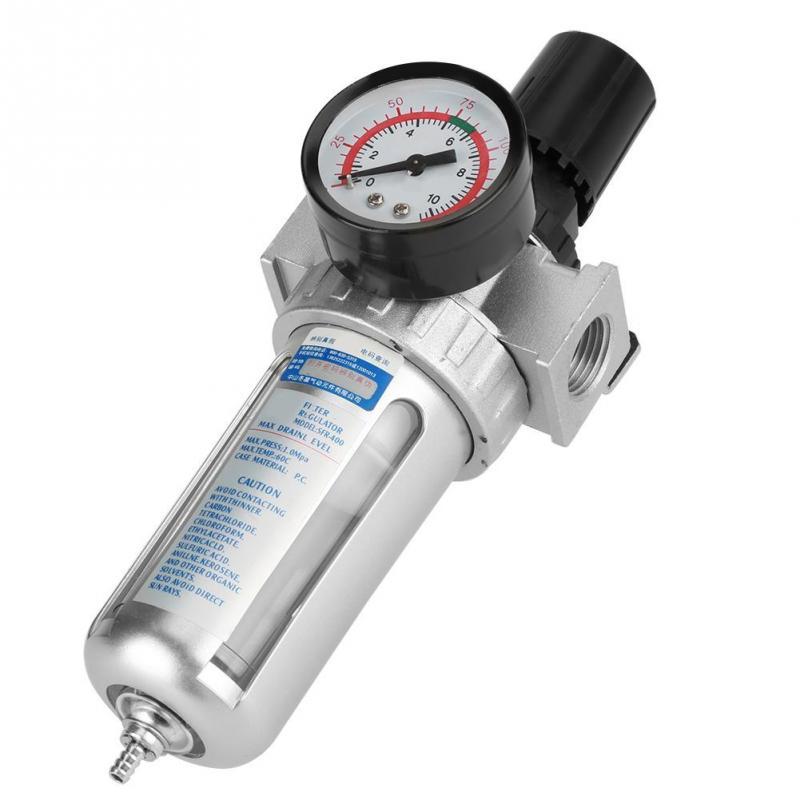 "New 1//2/"" Air Compressor Regulator with Pressure Gauge and Mount Bracket"