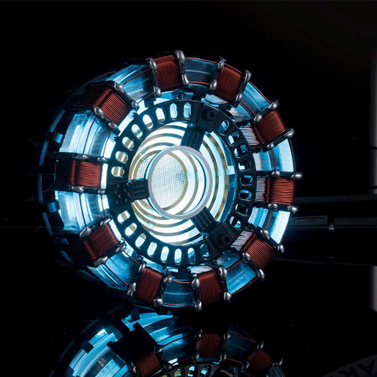 Light Powered Arc Reactor Men Heart DIY Model Kit LED Chest USB Movie Props DIY Model Lamp