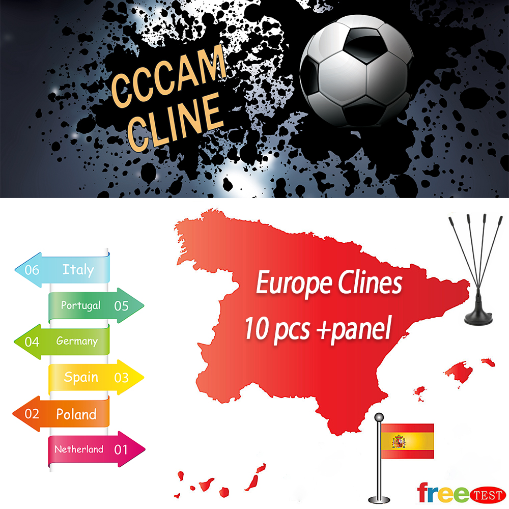 Most Stable Cccam Spain/cline 1 Year For Europe Spain Europe CCCAM DVB-S2 Europe Clines For Free Sat V8 V7 Free Shipping