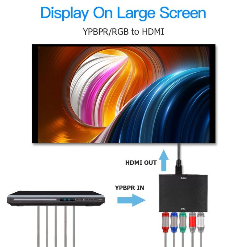 ALLOYSEED YPBPR to HDMI 1080P HDMI to RGB YPbPr Component Video Converter With R/L Audio Adapter Converter For TV PC DVD Monitor