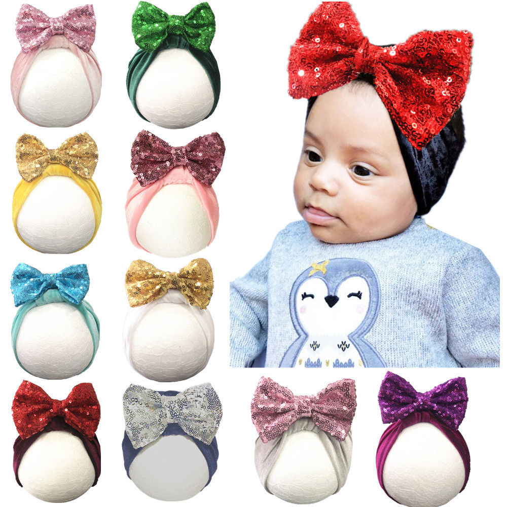 Fashion Newborn Toddler Kids Baby Boys Girls Turban Cotton Beanie Hat Winter Cap