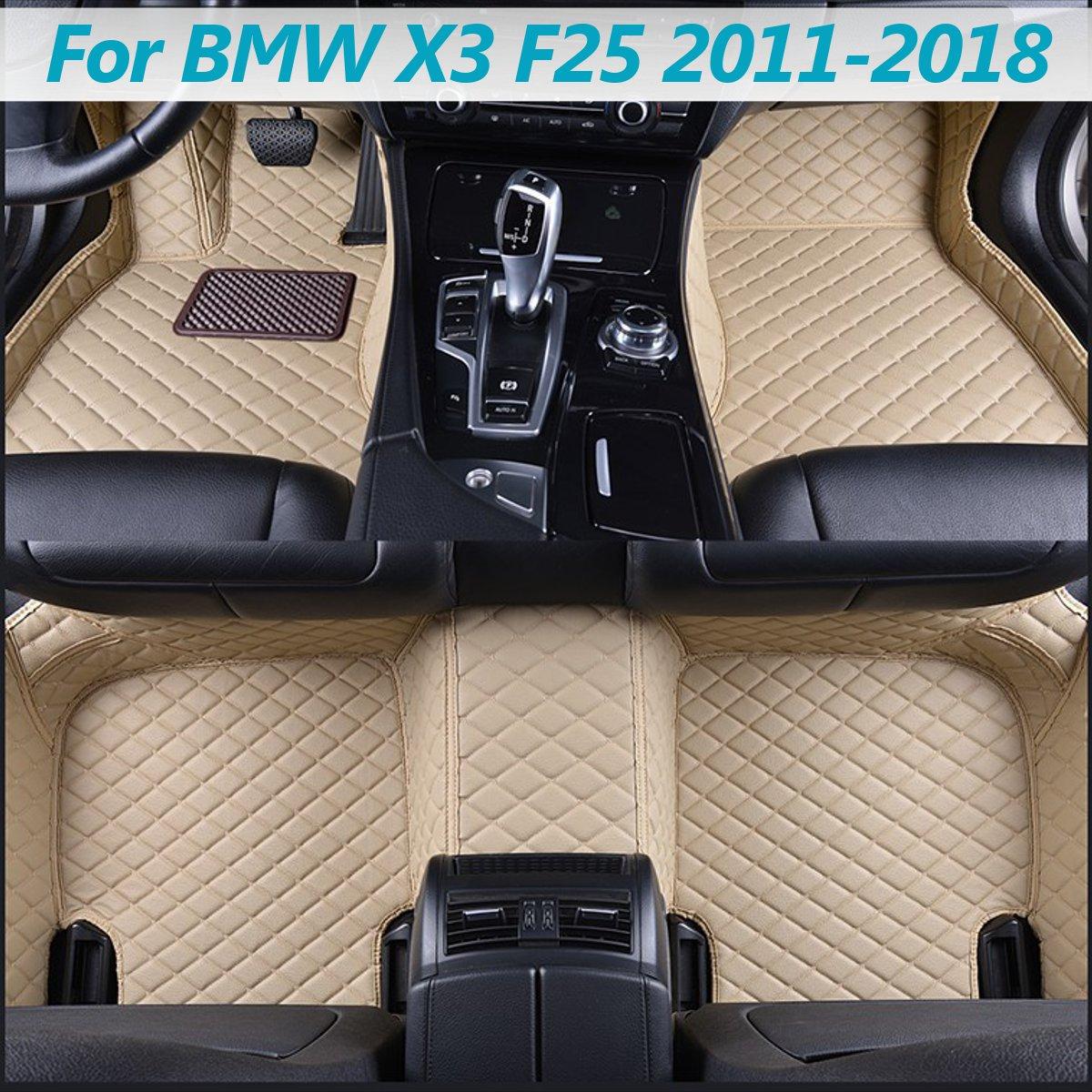 1set Car Leather Front Rear Floor Mats Set For BMW X3 F25 2011 2012 2013 2014 2015 2016 2017 2018 Liner Waterproof 5 Seat Mat1set Car Leather Front Rear Floor Mats Set For BMW X3 F25 2011 2012 2013 2014 2015 2016 2017 2018 Liner Waterproof 5 Seat Mat