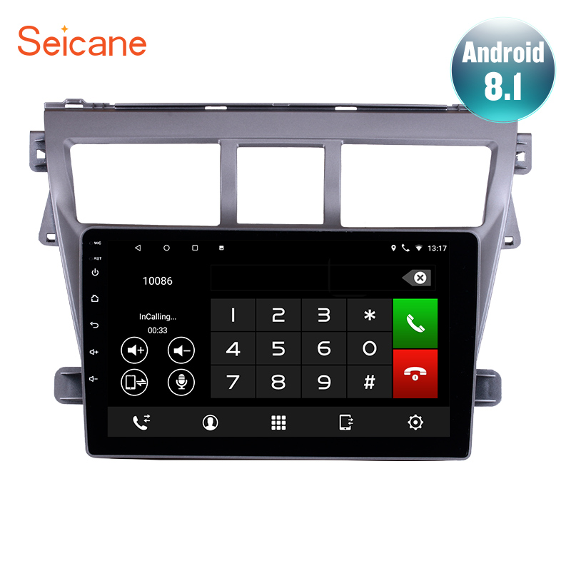 Seicane Android 8 1 Car GPS Navigation Unit 9 inch Radio For 2007 2012 Toyota VIOS