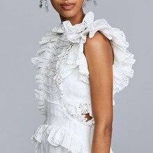 فستان أبيض أنيق من الدانتيل والراقي موديل أزياء كورية