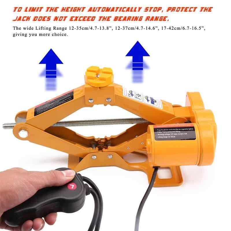 Onever 2Ton Auto Schaar Elektrische Lifting Jack 12 v/10A 100 w Auto Repair Tool Auto Wiel Veranderen tool Accessoires