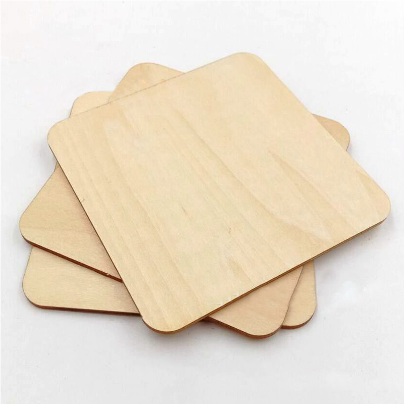 Blank Plaque 5 Sizes Building Model Square DIY Craft Pyrography Projects Games Scrapbooking Unfinished Wood Pieces Basswood