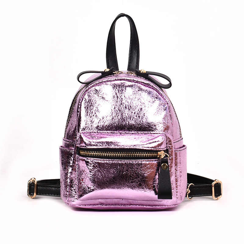 bd7c8e39768a Detail Feedback Questions about Mini Backpack Women School Bags PU Leather  Bag Female Silver Backpacks Teenage Girls Shoulder Bags Mochila on  Aliexpress.com ...