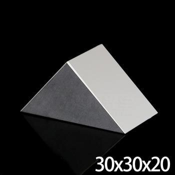 30x30x20mm Optical Glass Triangular K9 Prism Lens With Reflecting Film Light Spectrum Physics Medicine