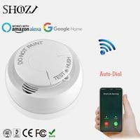 tuya smart life APP Smart home Wifi Smoke Detector Alarm Sensor Battery Powered APP Remote Control Notification Alerts