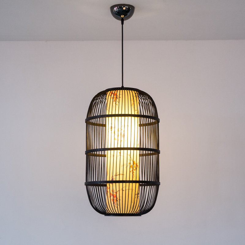 New Chinese Birdcage Pendant Lights Retro Cafe Restaurant Corridor Solid Wood Pendant Lamp Home Decor Hanging Lighting Fixtures in Pendant Lights from Lights Lighting