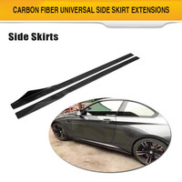 Универсальный бампер губы боковые юбки для BMW g30 E46 E60 VW Touareg Subaru Impreza Honda Civic углеродного волокна Автомобильный кузов комплект бампер фартук