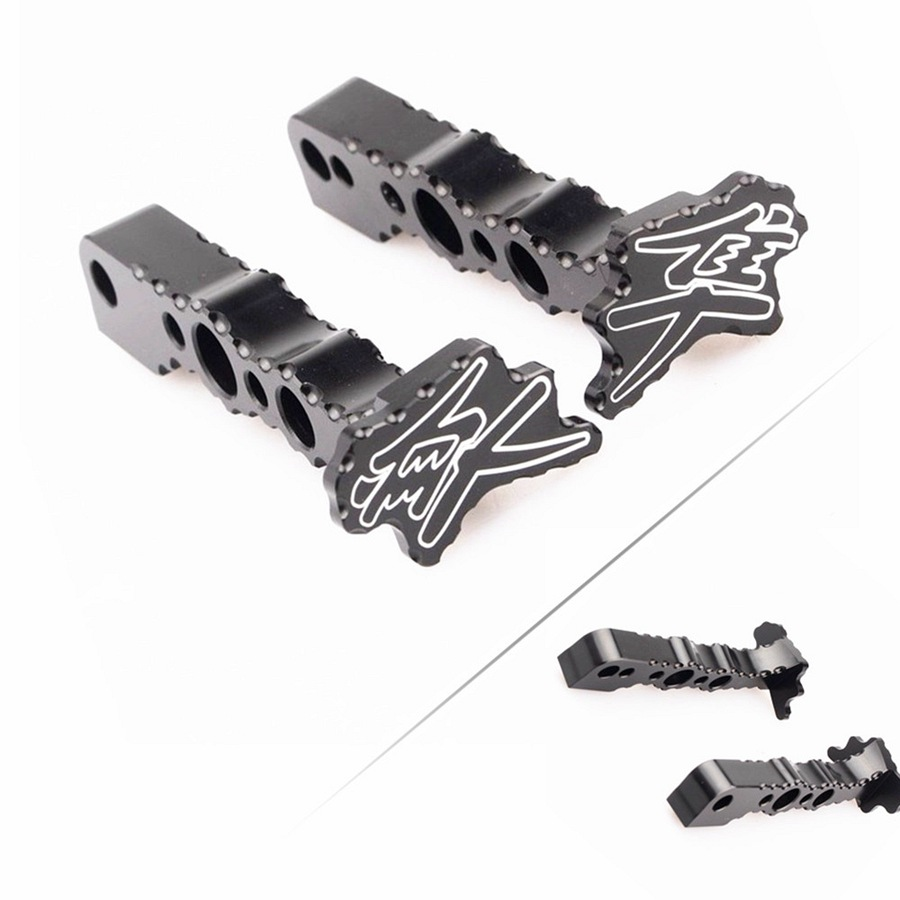 Motorcycle Rear Foot Pegs Footrest  Black Pedal For Suzuki Hayabusa GSX1300R 2008 2009 2010 2011 2012 2013 2014 2015 2016 2017