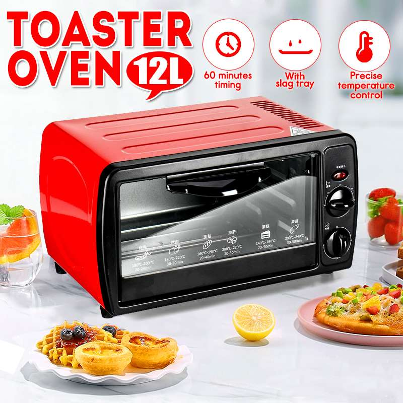 Brilliant 12l Household Mini Intelligent Timing Baking Home Life Kitchen Bread Toaster Electric Oven Bread Baking Machine Rapid Heat Dissipation
