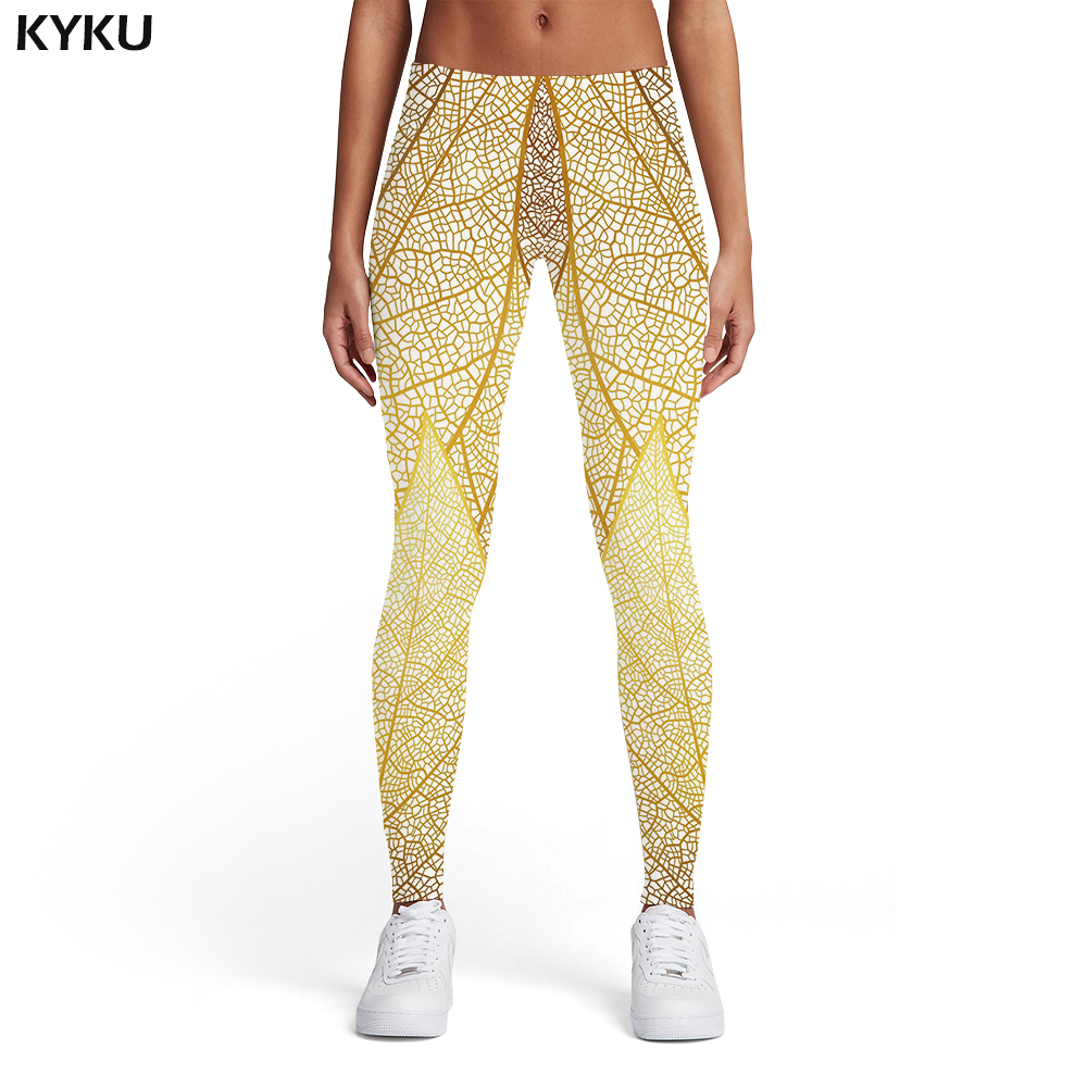 Kyku Psychedelic Leggings Women Pattern Ladies Colorful Sport Art Elastic Vintage Spandex Womens Leggings Pants Fitness