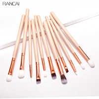 RANCAI Eyeshadow Brush Set Professional 12pcs Makeup Brushes Eyebrow Eyeliner Lip Brush Make Up Cosmetic Beauty Tools