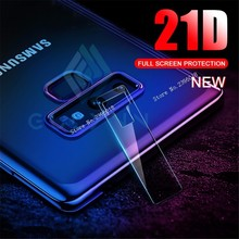 2PCS Camera Lens Tempered Glass For Samsung Galaxy S8 S9 S10 10E Plus Note 8 9 S10 J4 6 8 7 Plus 21D Screen Protector Soft Film camera lens screen protector tempered glass film for iphone xs max x xr 8 7 plus samsung galaxy note 10 5g 9 s10 s10e s9 s8