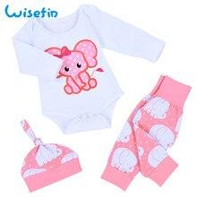 Комплект для малышей, комплект одежды для новорожденных девочек, зимний комплект, одежда для маленьких девочек, комплекты из 3 предметов: боди+ штаны+ шапочка, одежда для маленьких девочек, D35