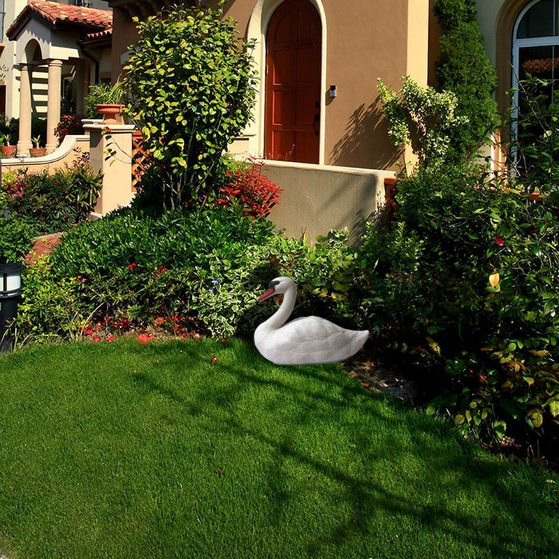 Inventive 1pcs Hunting Bait White Goose Pond Garden Decoration Plastic White Swan Pets And Childrens Toys 36x18x18cm Yard & Garden Decor Garden Supplies
