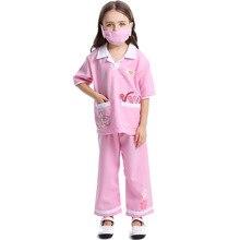 Cute Veterinary Costume Cosplay For Girls Kids Animal Doctor Uniform Suit Halloween