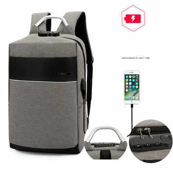 New USB Charging Port Unisex Anti Theft Business Laptop Backpack Multifunction Waterproof Travel Bagpack For Teenage Girl Nylon - Category 🛒 Luggage & Bags
