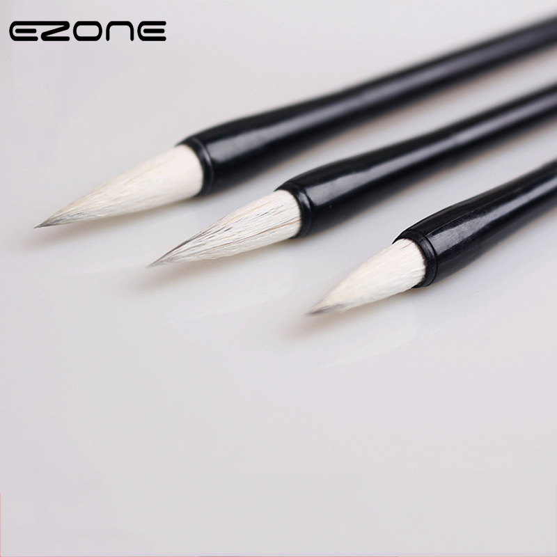 EZONE Chinese Writing Brush For Chinese Calligraphy Writing Practice S/M/L Size Wool Hair Hot Sale Calligraphy Brush  Art Supply