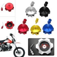 Универсальный CNC алюминиевый мотоцикл газовый топливный бак крышка для грязного велосипеда ATV Quad Авто запасные части заклепки