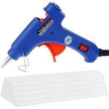 20W Professional High Temp Hot Melt Glue Gun Graft Repair Heat Gun Pneumatic DIY Tools Hot Glue Gun with 10 pc melt glue gift