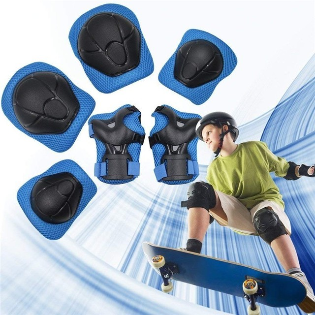 6Pcs/set Children Skating Protective Gear Sets Kids Knee Elbow Pads Bicycle Skateboard Ice Skating Roller Wrist Knee Protector