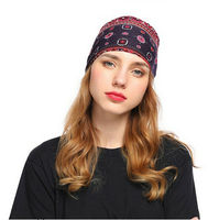 UK Ladies Twist Knot Pattern Headband Elastic Head Wrap Turban Hair Band Floral