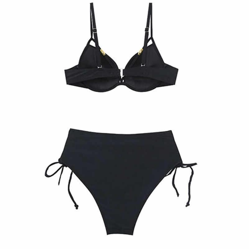 Высокая талия бикини пуш-ап женский купальник Мягкий сексуальный бандаж купальник Maillot De Bain летний купальный костюм 2019 Biquine