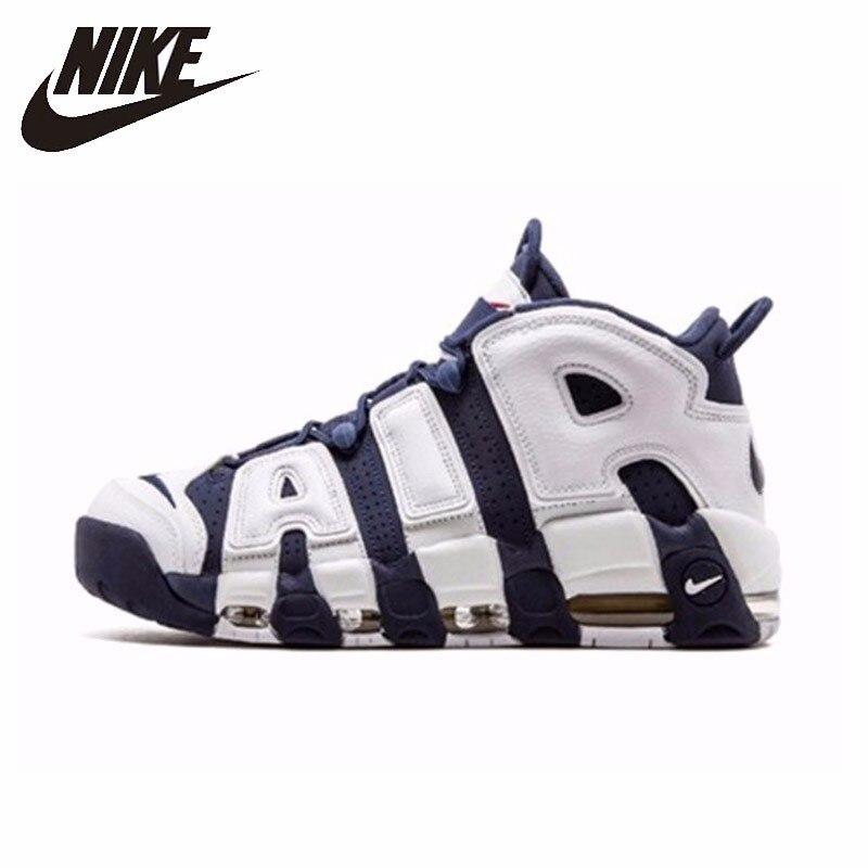Nike Air More upritmo OLYMPICS nueva llegada Original hombres baloncesto zapatos transpirables cómodos duraderos zapatillas #414962-104