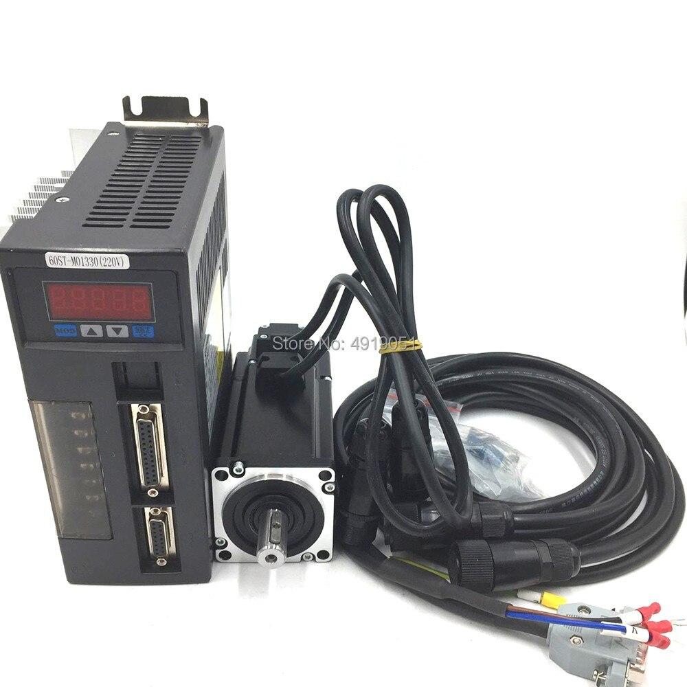 1 кВт 80 мм NEMA32 серводвигатель переменного тока + комплекты привода 4нм 1000 Вт 220В переменного тока 3000 об/мин 80st m04025 Высокоточный двигатель для ЧПУ