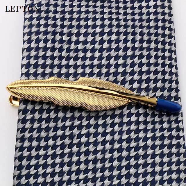 Купить новинка зажимы для галстука lepton с перьями мужчин золотистый картинки