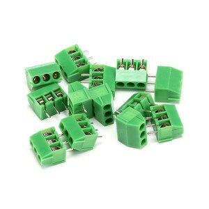 10pcs KF350-2P 3P Green Pin Screw Terminal Block Connector KF350 3.5mm Pitch amphenol connector 250V/10A(China)