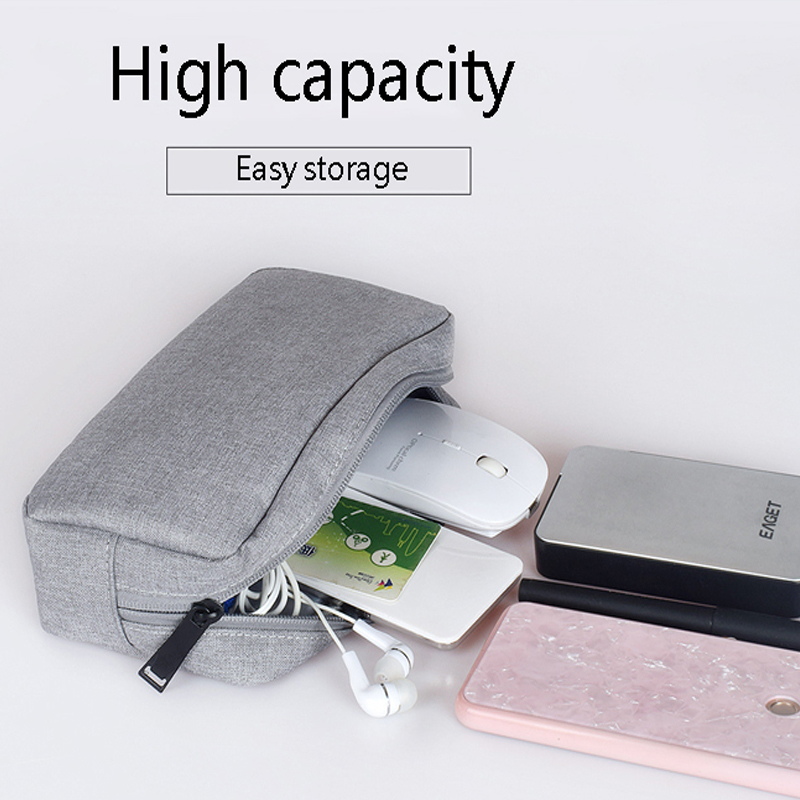 Power Bank Travel For Iphone X 7 8  Case Portable Digital USB Cable Charger Earphone Cosmetic Pouch Storage Organizer Bag Case