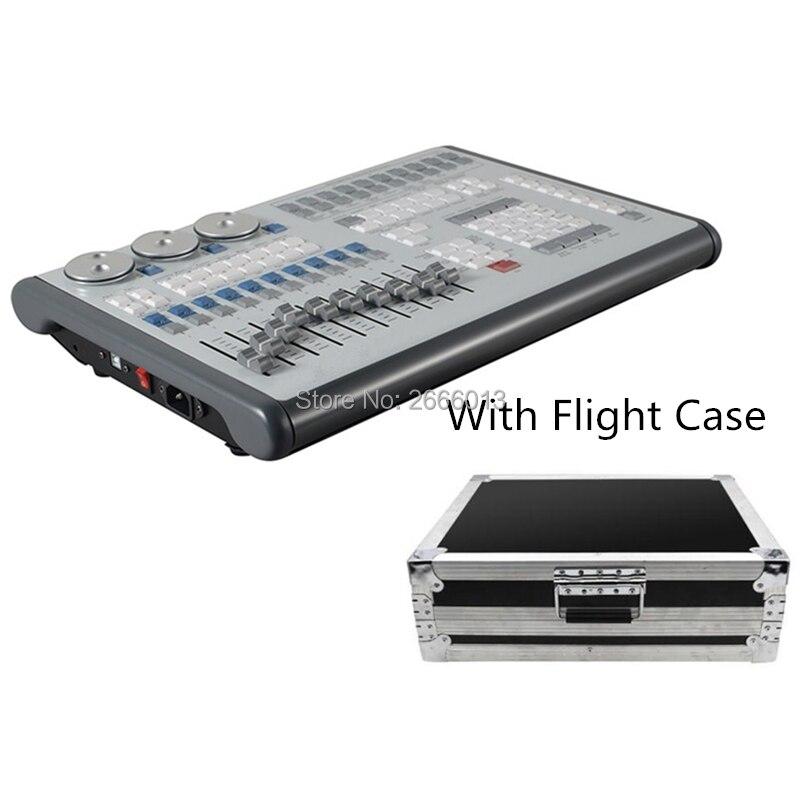 Asa móvel DMX Console MIDI Timecode Alimentado Por USB Titan Processadores de Rede Com Caso do Vôo Controlador de Iluminação de Palco Profissional