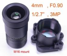 """ستار ضوء F0.90 aparture 4 مللي متر عدسة 3MP 1/2. 7 """"شكل ل دارة بصرية متكاملة لاستشعار الصورة IMX327 ، IMX307 ، IMX290 ، IMX291 كاميرا PCB لوحة تركيبية F0.9"""