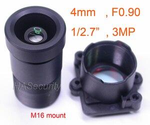 "Image 1 - Star Light F0.90 aparture 4mm LENs 3MP 1/2.7"" format for image sensor IMX327,IMX307,IMX290,IMX291 camera PCB board module F0.9"