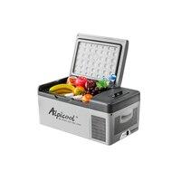 15L 12/24 V 110 V C15 Портативный приложение Управление мини холодильник для автомобиля морозильник цифровой Дисплей автомобильный мини холодильн