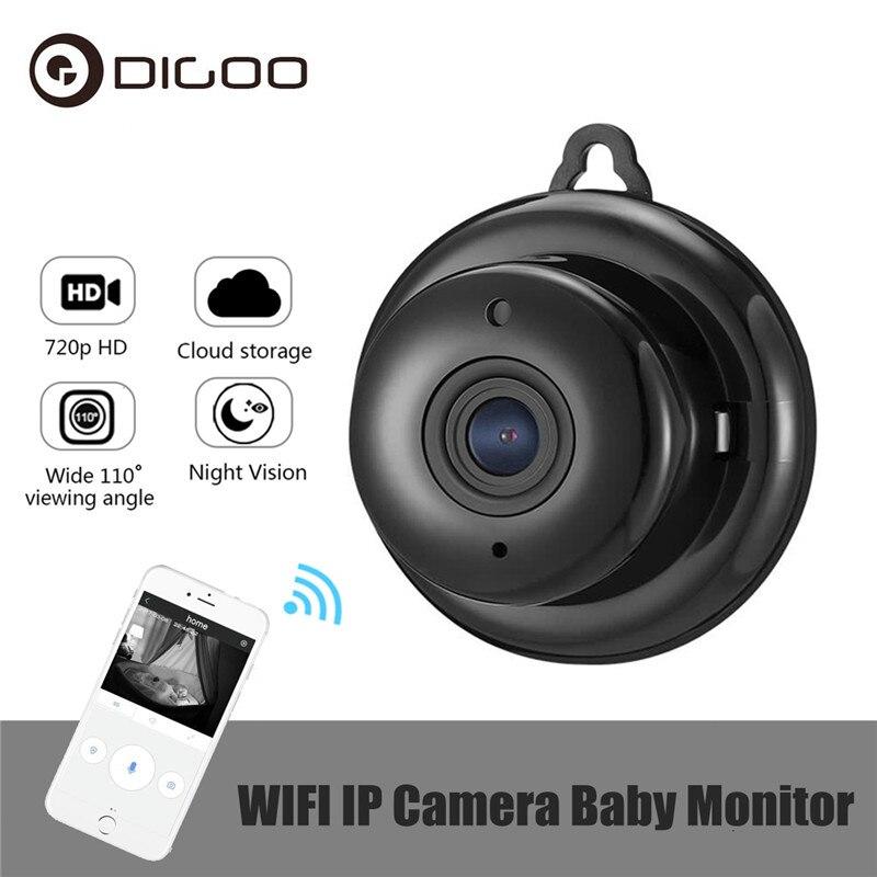 DIGOO DG-MYQ 2.1 milímetros Lens 720 P Mini Sem Fio WIFI Visão Noturna Monitor Do Bebê Câmera IP Onvif Segurança Casa Inteligente monitor de