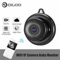 DIGOO DG-MYQ 2.1mm lentille 720 P sans fil Mini WIFI Vision nocturne intelligente maison sécurité IP caméra Onvif moniteur bébé moniteur