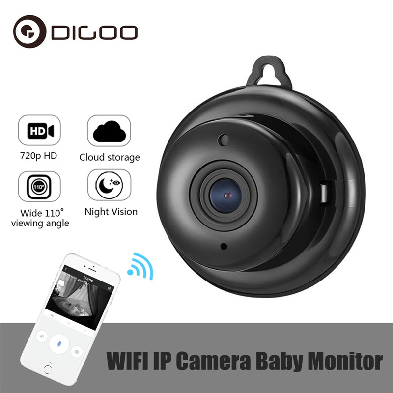 DIGOO DG-MYQ Lente de 2.1mm 720 p Mini Sem Fio WIFI Visão Noturna Monitor Do Bebê Câmera IP Onvif Segurança Casa Inteligente monitor de