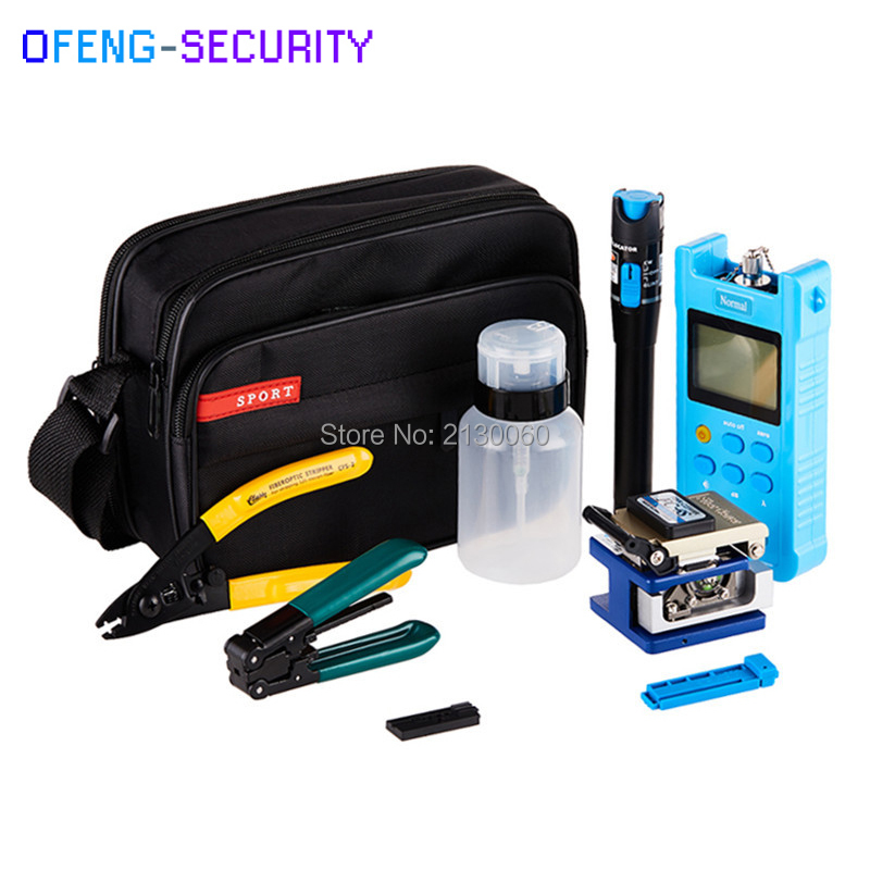 Fiber Optic FTTH Tool Kit With FC-6S Fiber Cleaver, Visual Fault Locator, Miller Wire Stripper, Wire Stripper,Power Meter