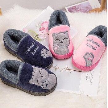 04ba4328a41377 2018 Winter Kinder Schuhe Kinder Hause Hausschuhe Jungen Und Mädchen  Ciabatte Baby Hausschuhe Warme Kind Indoor Schuhe Pantoffels Kinderen