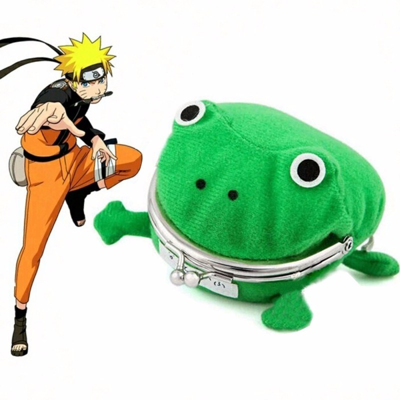 2019 Cartoon Fashion Animal Frog Wallet Naruto Kakashi Akatsuki Madara Cosplay Accessories Flannel Cute Coin Purse Prop