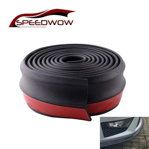Image 1 - SPEEDWOW Universal Car Front Rear Side Bumper Lip Splitter Rubber Protector Body Spoiler Valance Chin Rubber Car Bumper Lip 2.5M