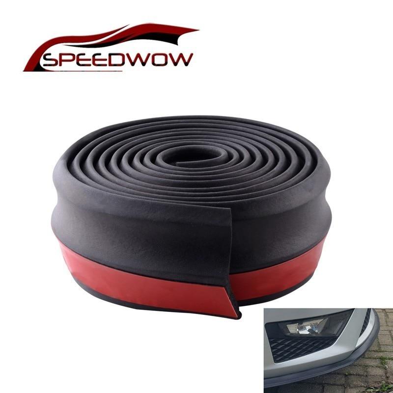 Speedwow Universele Auto Voor Achter Side Bumper Lip Splitter Rubber Protector Body Spoiler Volant Chin Rubber Auto Bumper Lip 2.5M